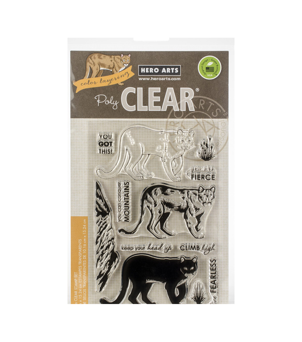Hero Arts Color Layering Clear Stamps 4\u0022X6\u0022-Mountain Lion