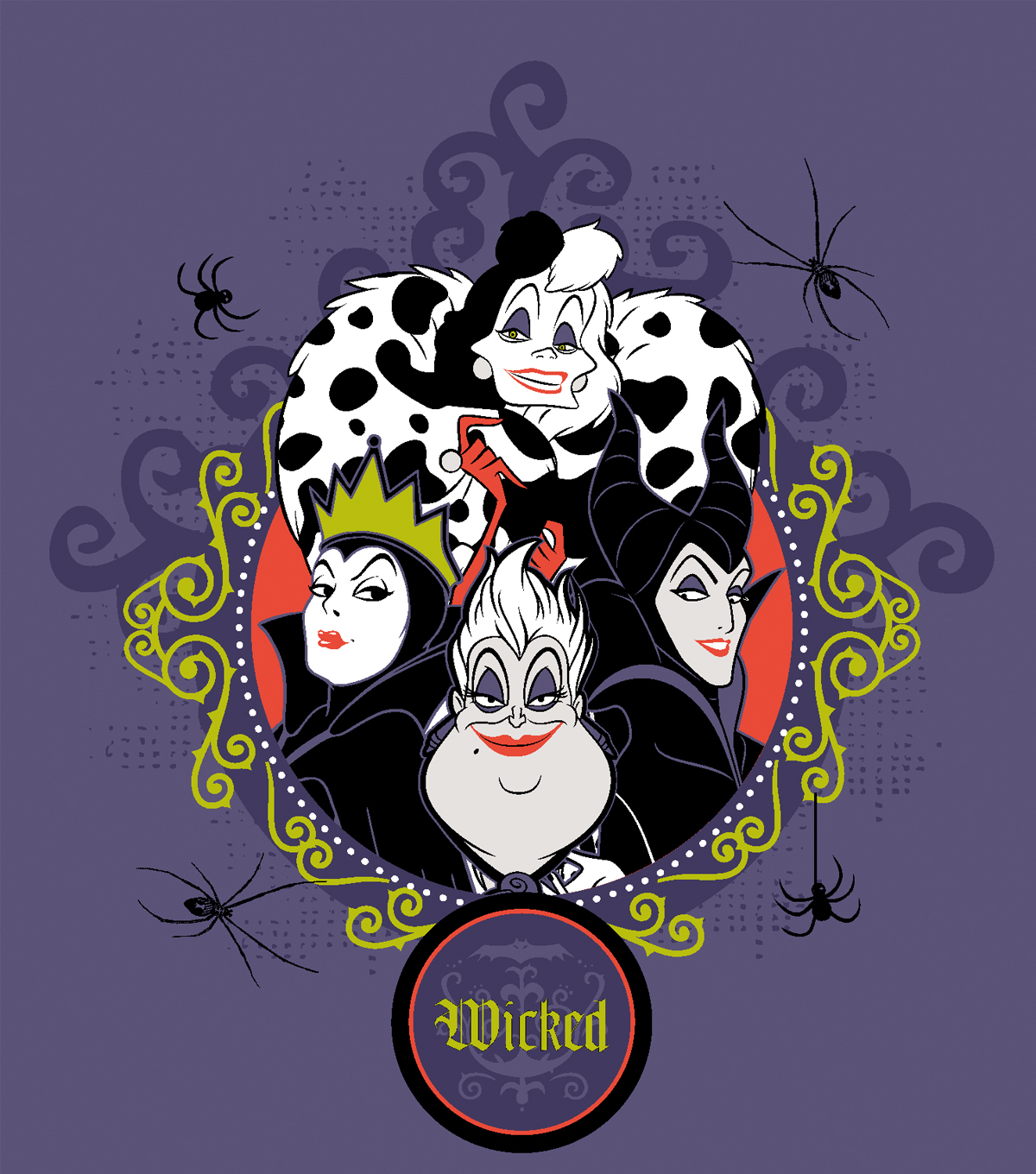 "Disney Halloween No-Sew Fleece Throw 72""-Wicked Villains ..."