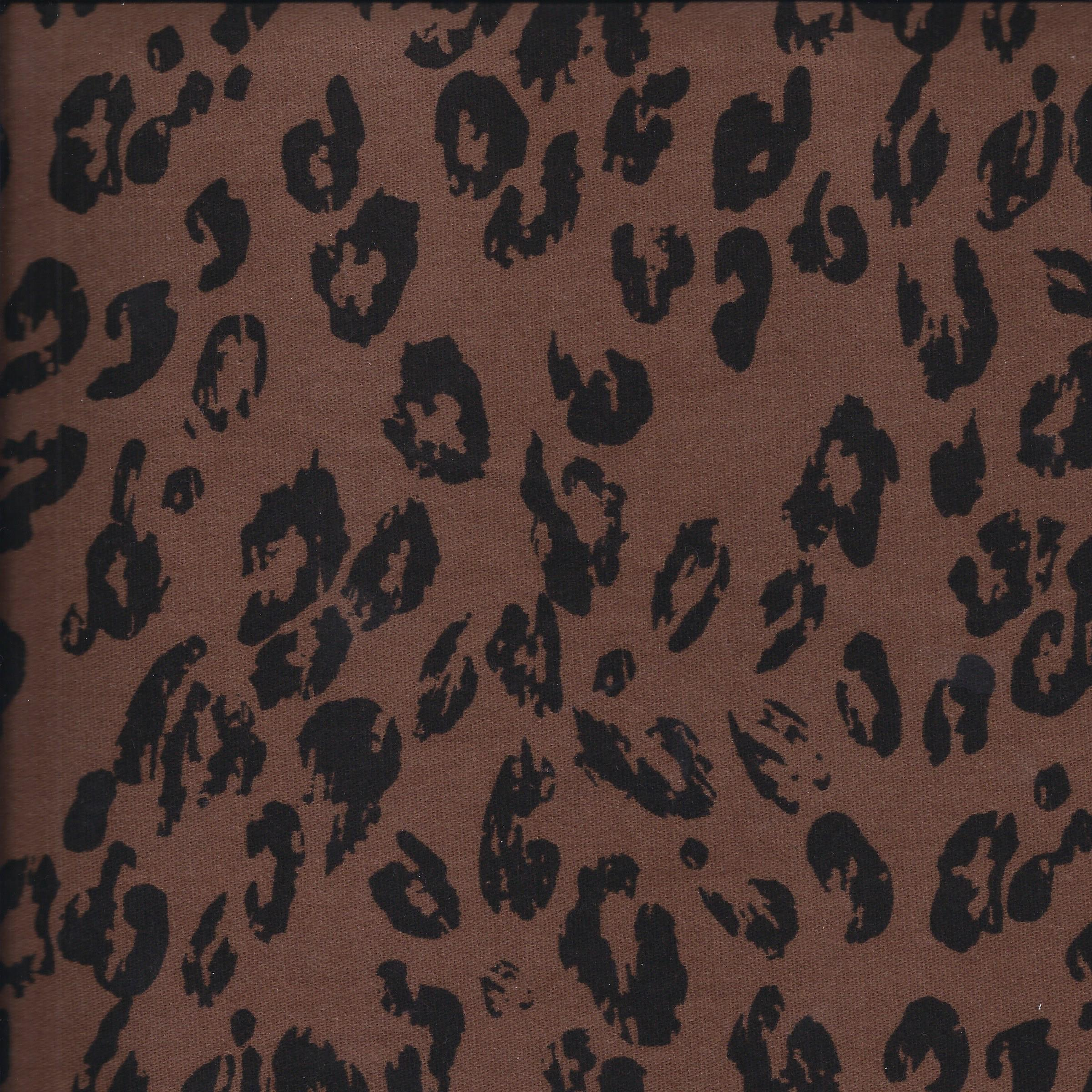 Famous Maker Twill Fabric -Brown Animal