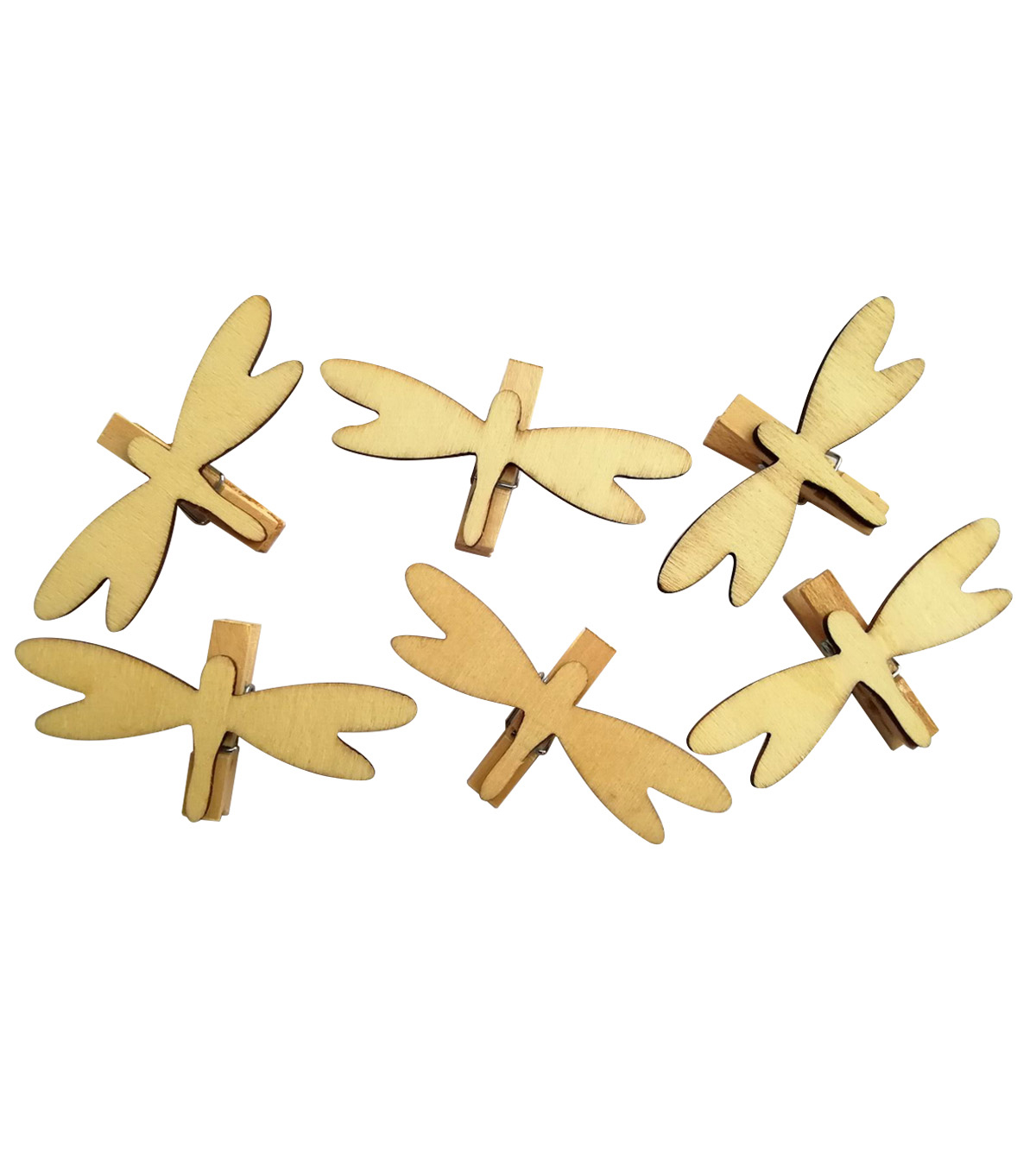 Simply Spring Wood Clothespins Dragonfly