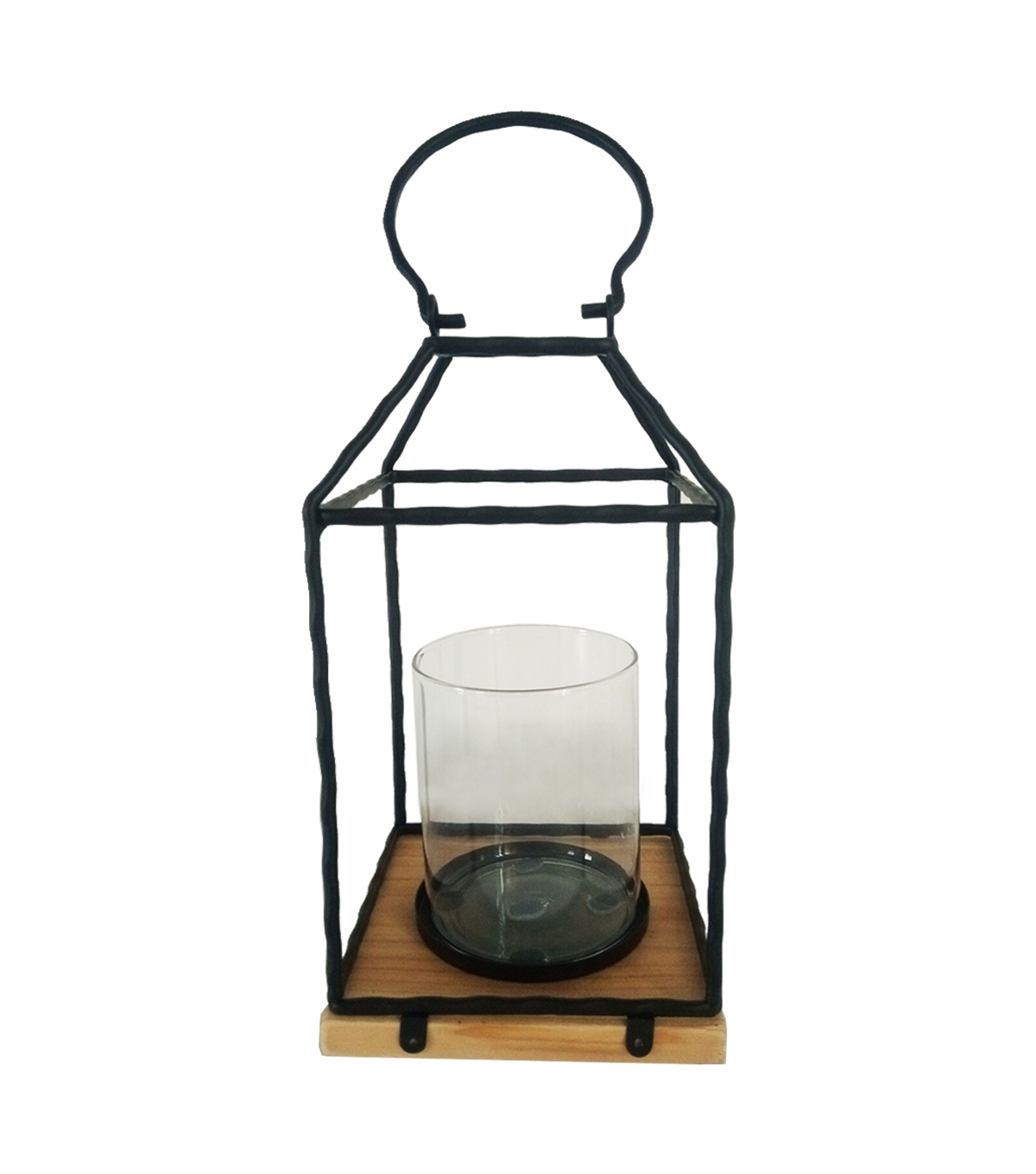 Maker\u0027s Holiday Christmas Farmhouse Metal Lantern-Black