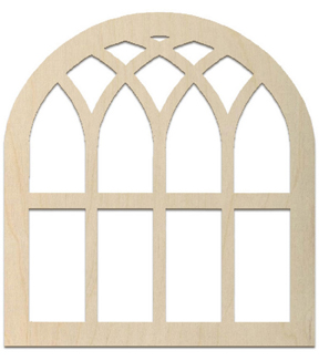 Baltic Birch Unfinished Arch 18\u0027\u0027x19.5\u0027\u0027