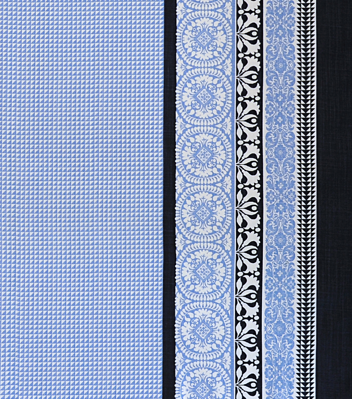 Coastal Lagoon Cotton Lyocell Fabric-White Blue Scarf Print