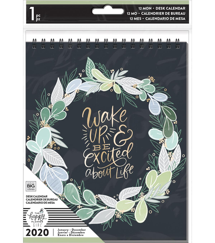 Nba Calendrier 2020.The Happy Planner Girl Spiral Desk Calendar 2020 Homebody