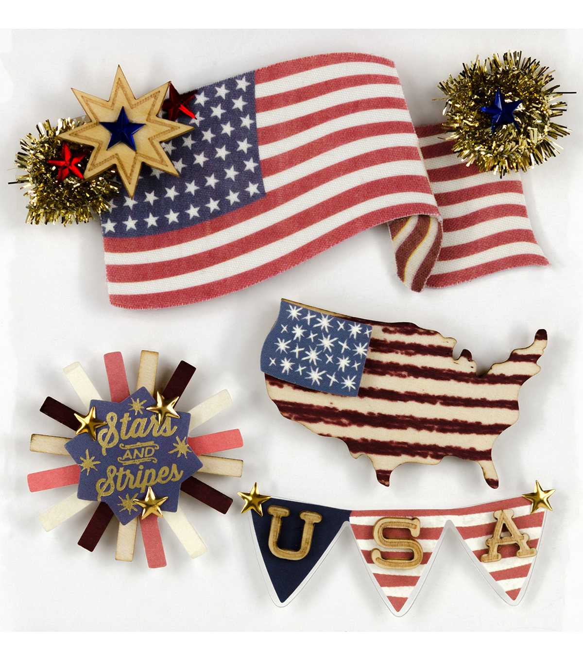 Jolee's Boutique Stickers-American Flag