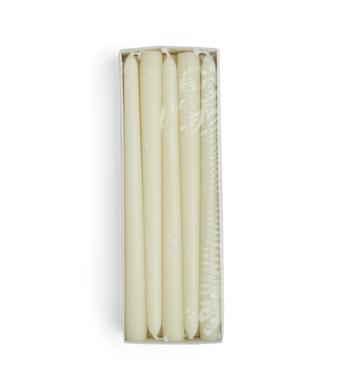 Hudson 43 Candle & Light Collection 10pk 10\u0022 Unscented Taper Candles-Ivory
