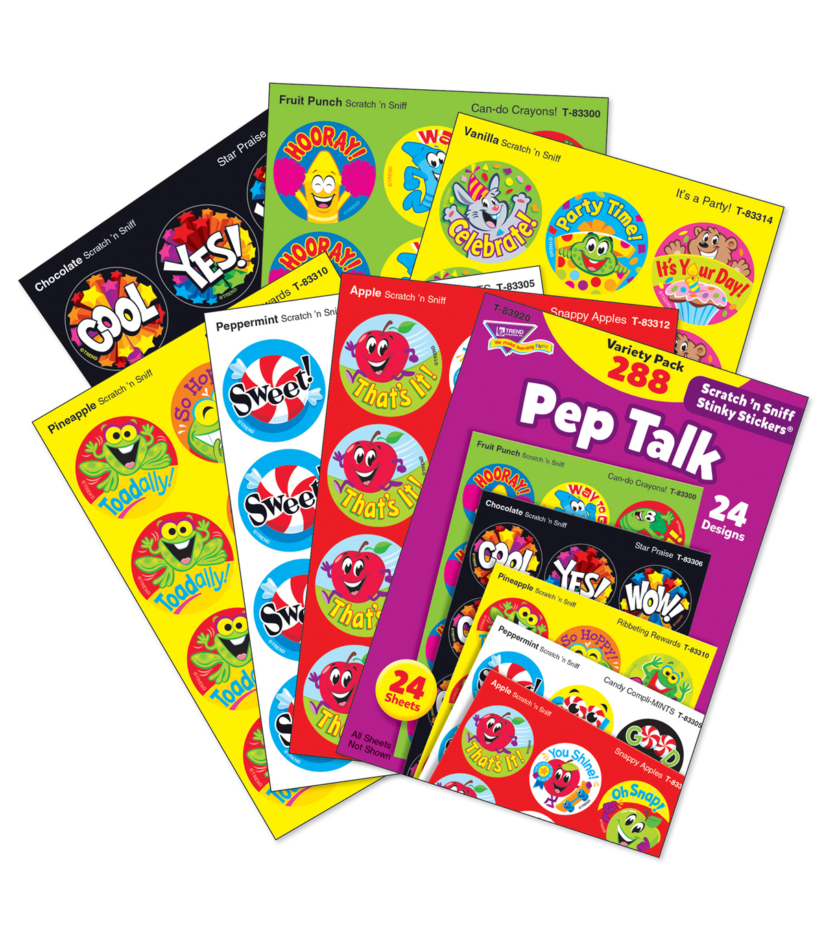 Pep Talk Stinky Stickers Variety Pack 288 Per Pack