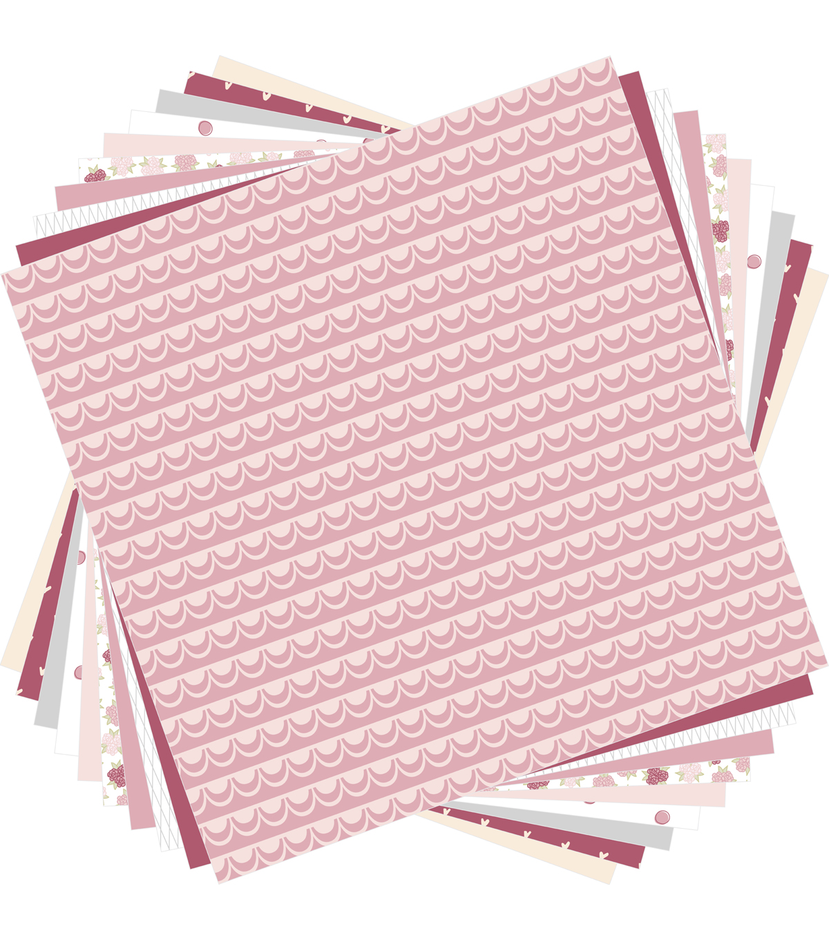 Cricut 10 Pack 12\u0027\u0027x12\u0027\u0027 Deluxe Papers-Dusty Rose