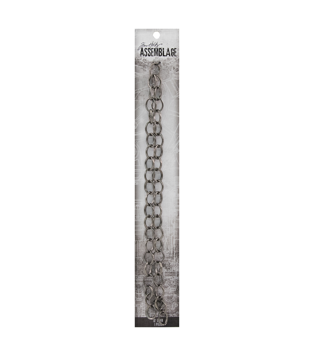 Tim Holtz Assemblage 18\u0027\u0027 Textured Loop Chain-Gunmetal