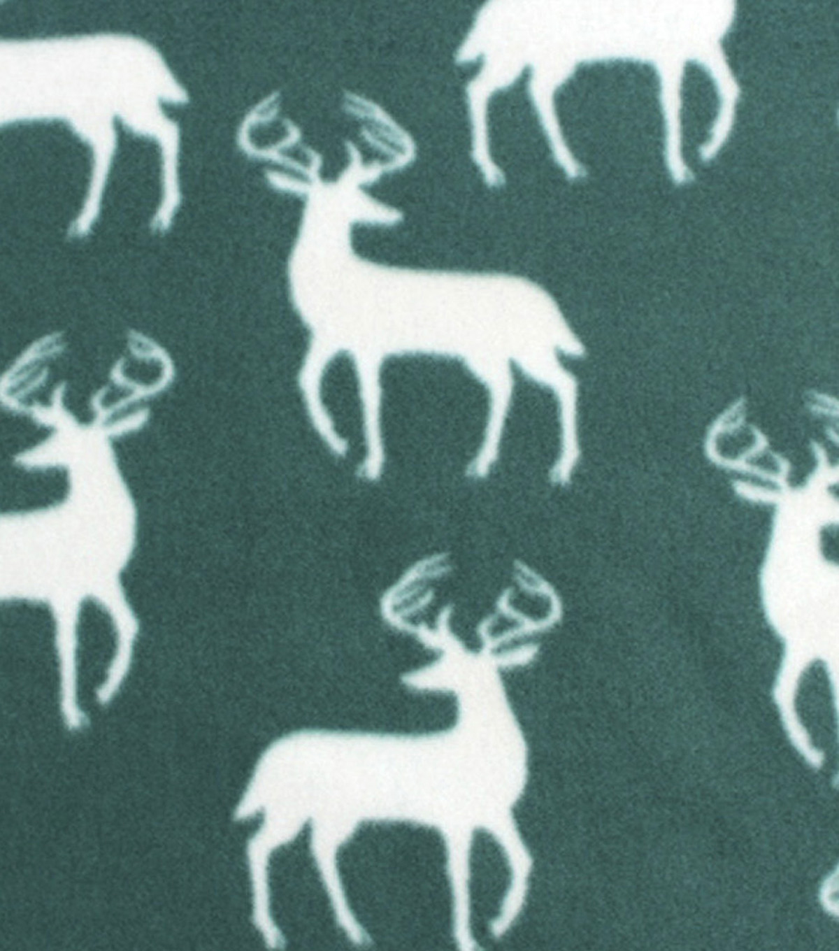Blizzard Fleece Fabric 59\u0022-Hunter Green Bucks