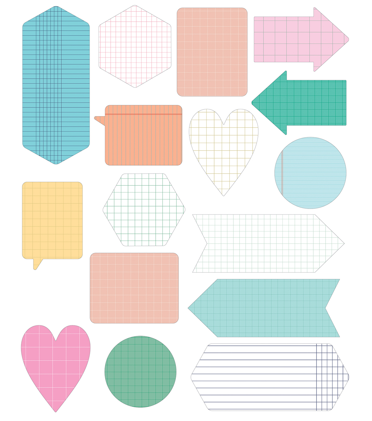 Illustrated Faith All People All Nations 16 pk Shapes Tip-ins Pads