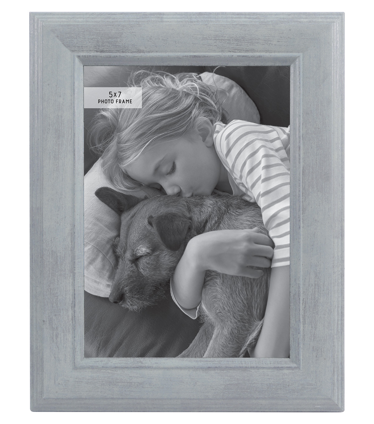 Photo Frame 5\u0027\u0027x7\u0027\u0027-Mint with Brushed Silver