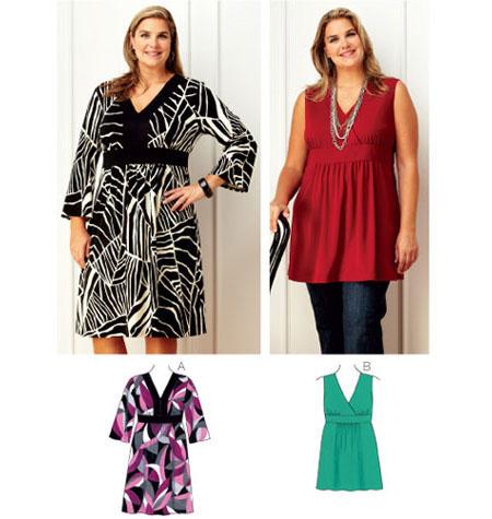 Dress Tunic400X 400X 400X 40X Pattern JOANN Amazing Plus Size Sewing Patterns