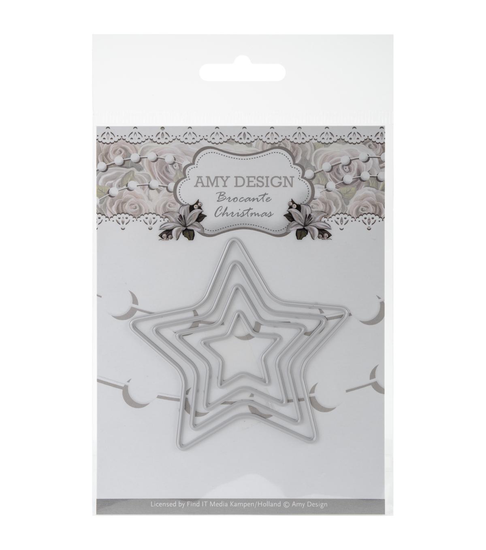 Amy Design Brocante Christmas Die-Mini Star Frames | JOANN