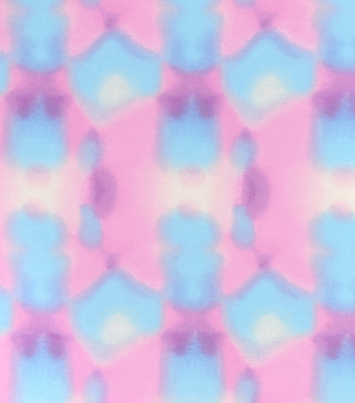Snuggle Flannel Fabric-Pink Blue Watercolor Tie Dye