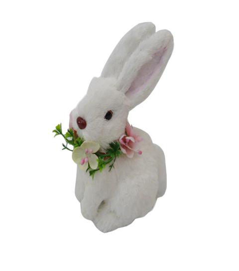 Fresh Picked Spring 5\u0022 Bunny with Flower Collar