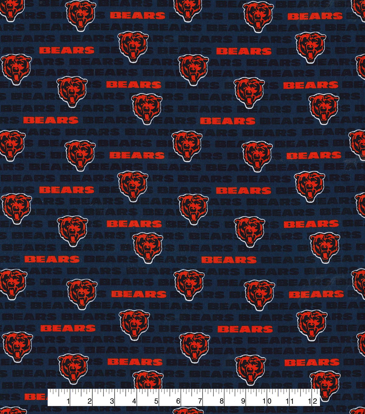 the latest 569be c6d50 Chicago Bears Cotton Fabric -Mini Print
