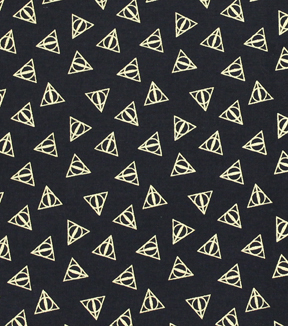 Harry Potter Cotton Fabric 44\u0022-Deathly Hallows