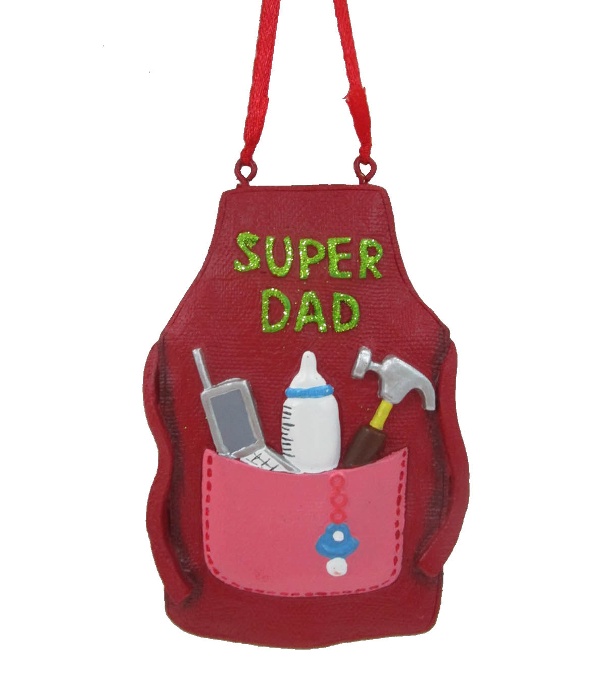 Maker\u0027s Holiday Christmas Ornament-Super Dad