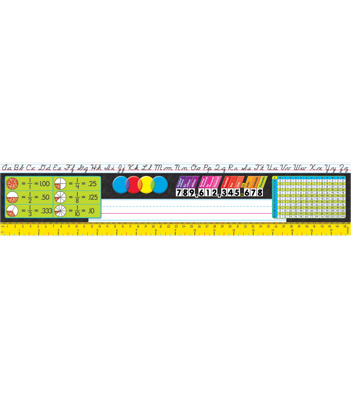 Desk Toppers Reference Name Plates, Grades 3-5, 36 Per Pack, 3 Packs