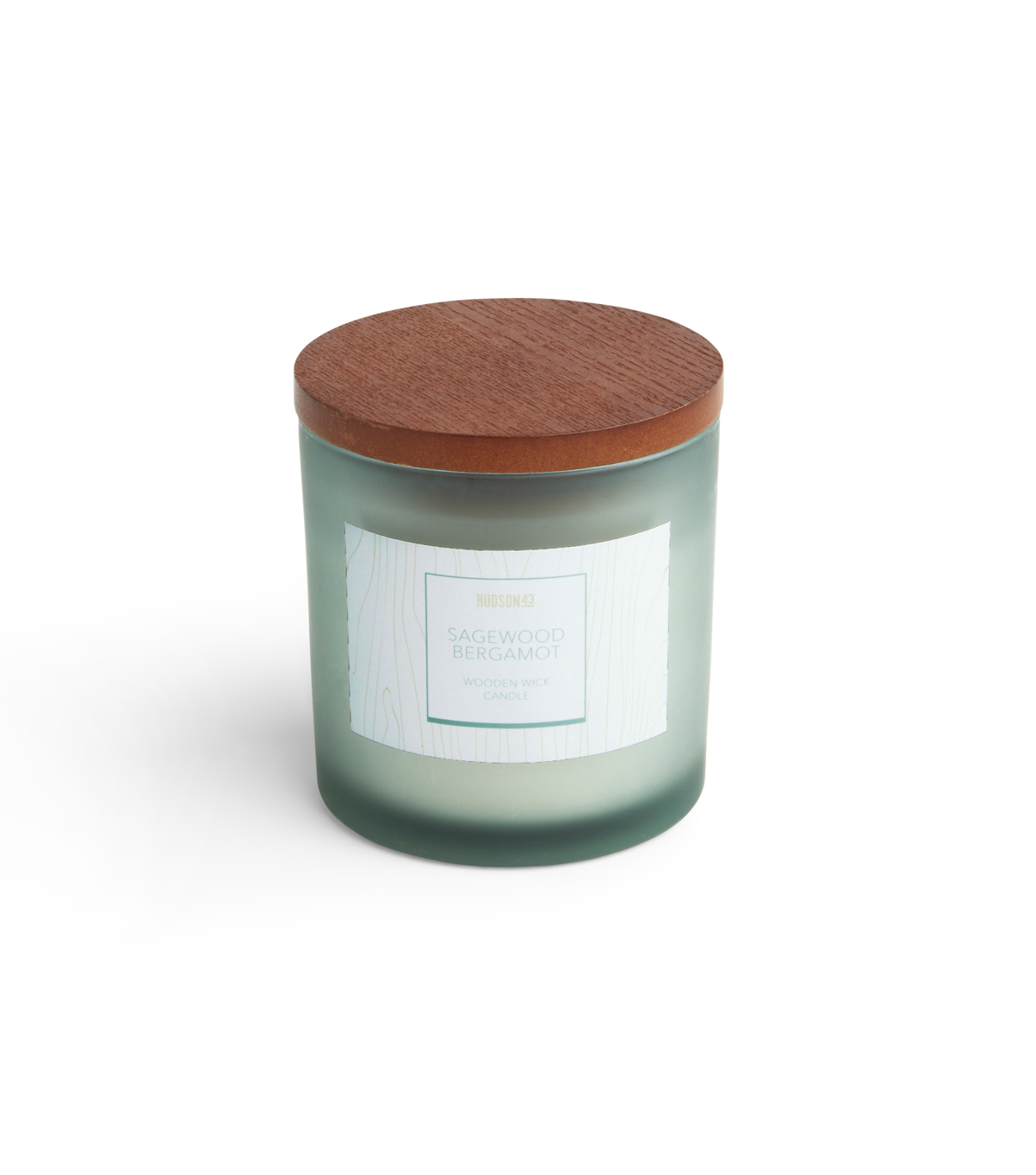 Haven St. Candle Co. 12 oz. Sagewood Bergamot Scented Wooden Wick Candle