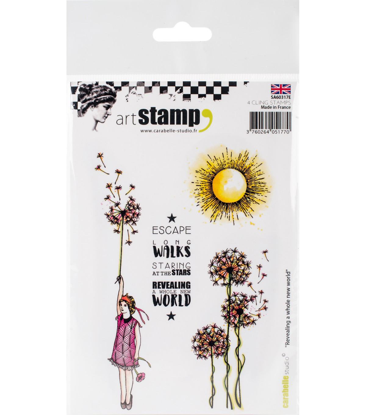 Carabelle Studio 4 pk A6 Cling Stamps-Revealing a Whole New World