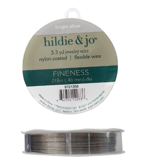 Bright Silver Plated Nylon Coated Jewelry Wire, 49 strands, 10ft ...