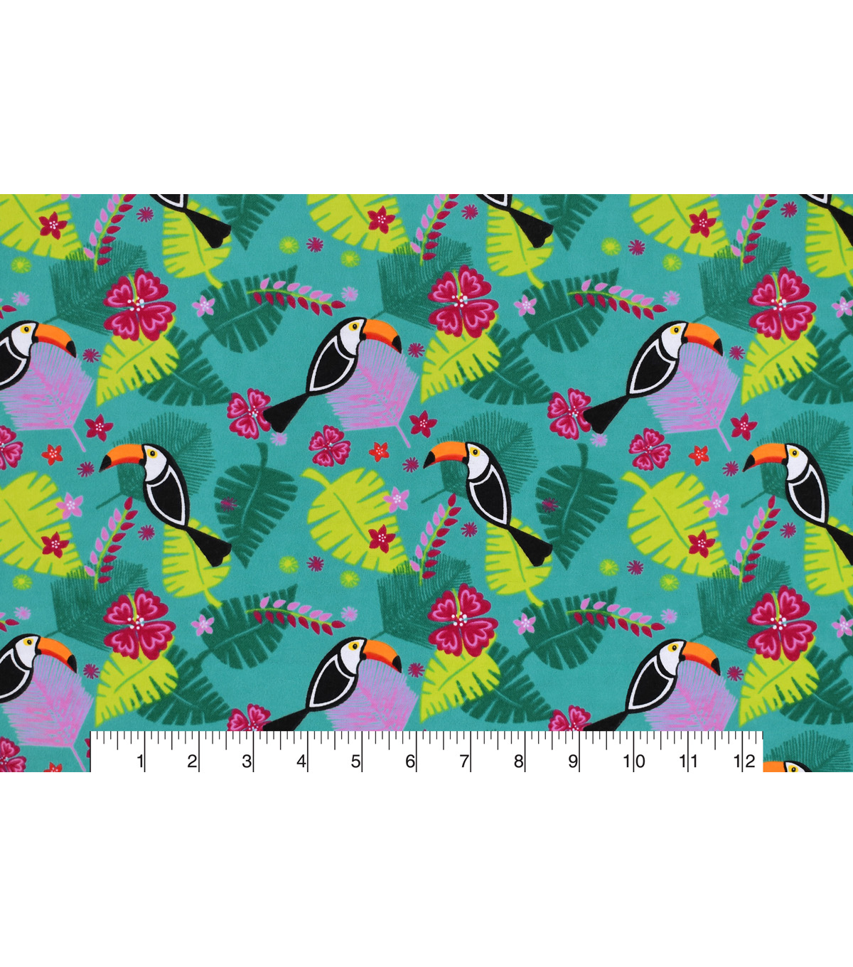Snuggle Flannel Fabric 42\u0022-Toucans Allover