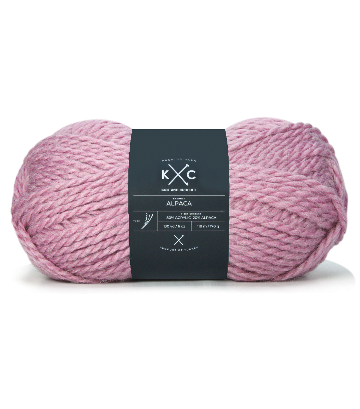 Buttercream Luxe Craft Alpaca Solids Yarn, Rose