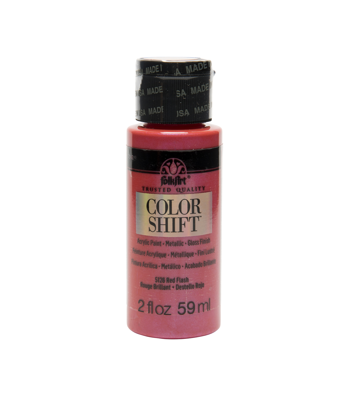 FolkArt Color Shift Metallic Acrylic Paint 2oz, Red
