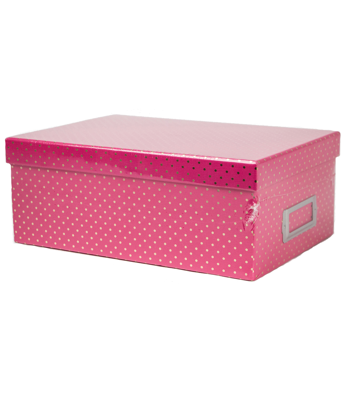 DCWV Pink with Gold Dots Storage Box JOANN