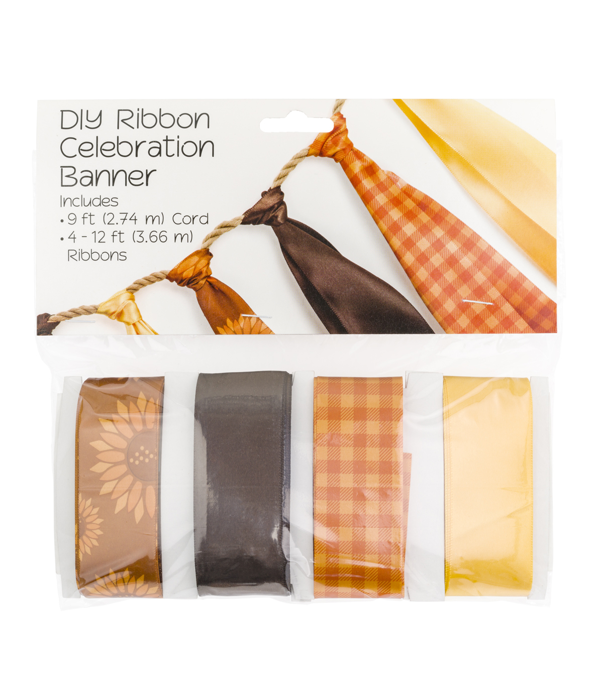 Offray DIY Ribbon Celebration Banner Kit-Harvest