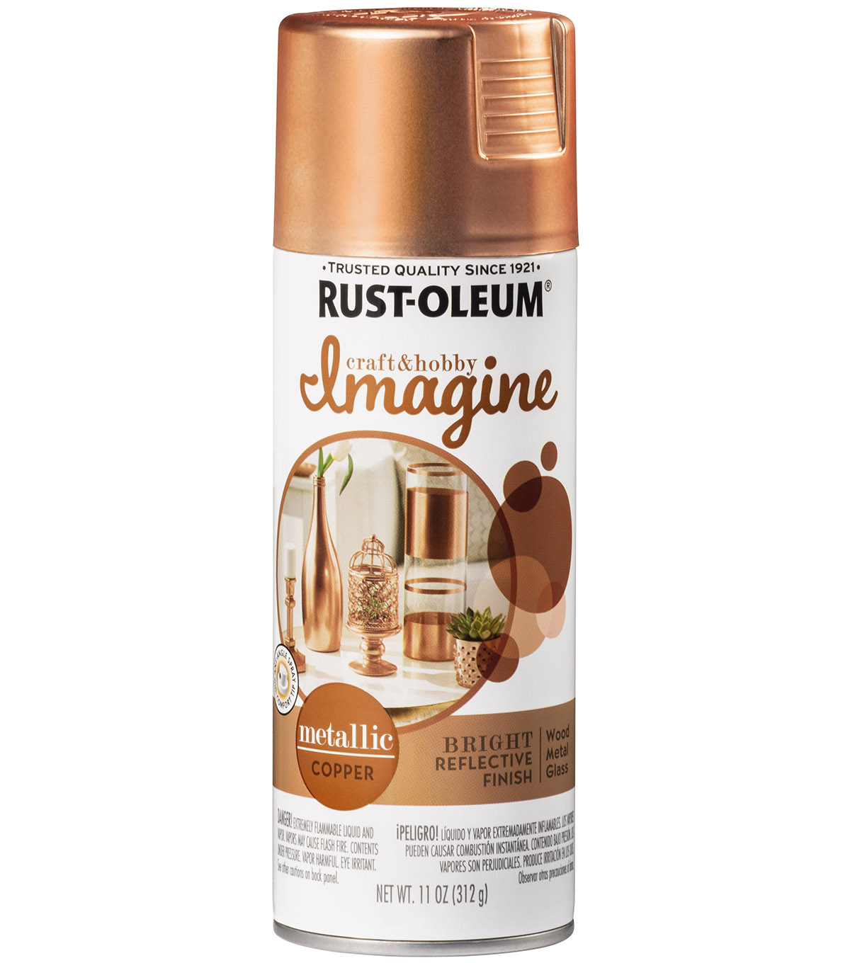 Rust-Oleum Imagine Metallic Spray Paint-Copper