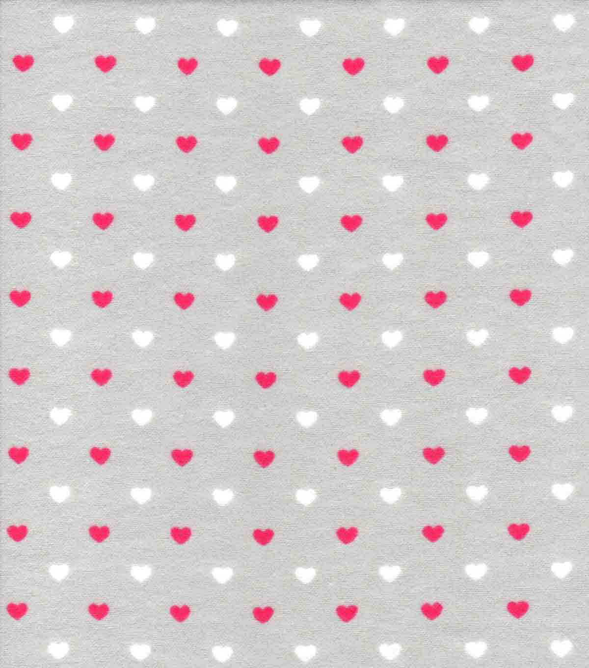 Nursery Flannel Fabric 42\u0022-Sweet Pink Grey Hearts
