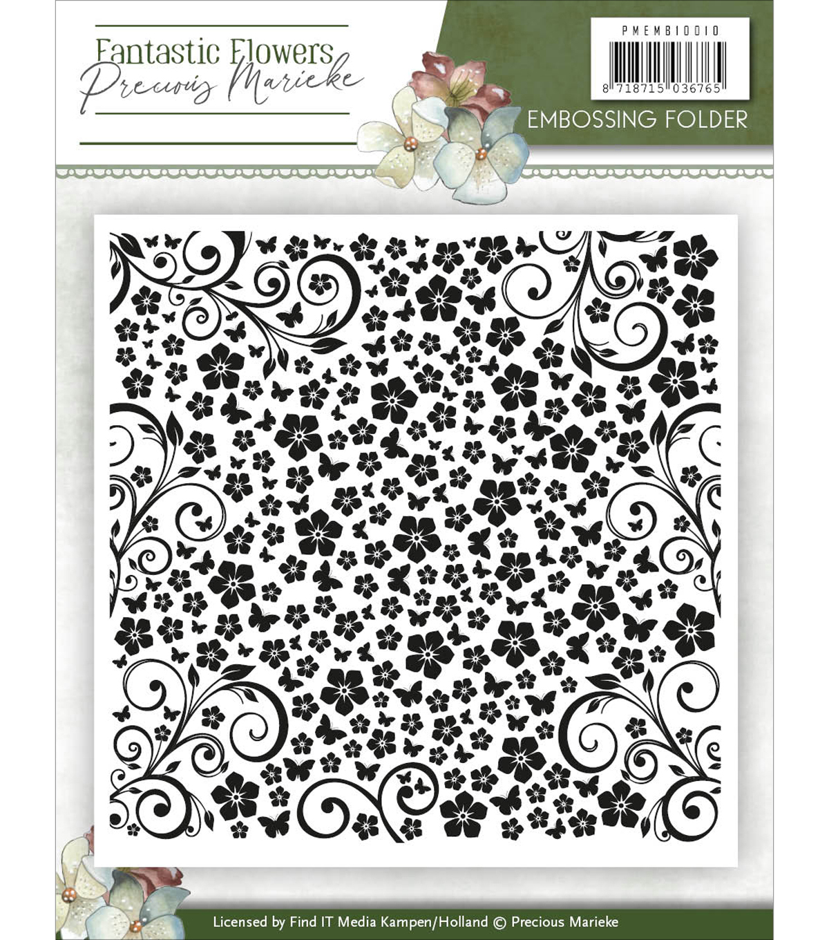 Find It Precious Marieke Fantastic Flowers Embossing Folder