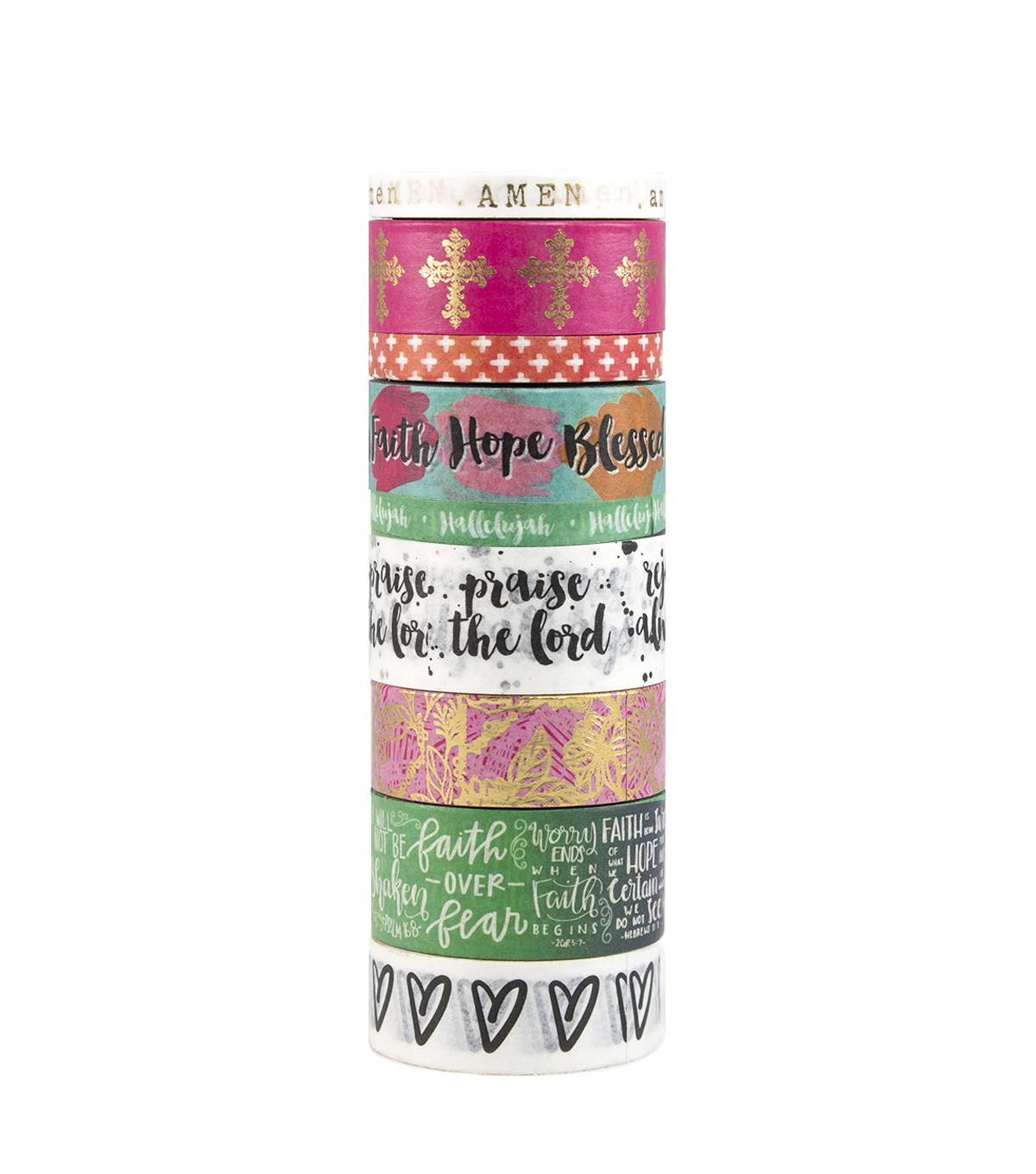 Park Lane 9 pk Washi Tapes-Faith