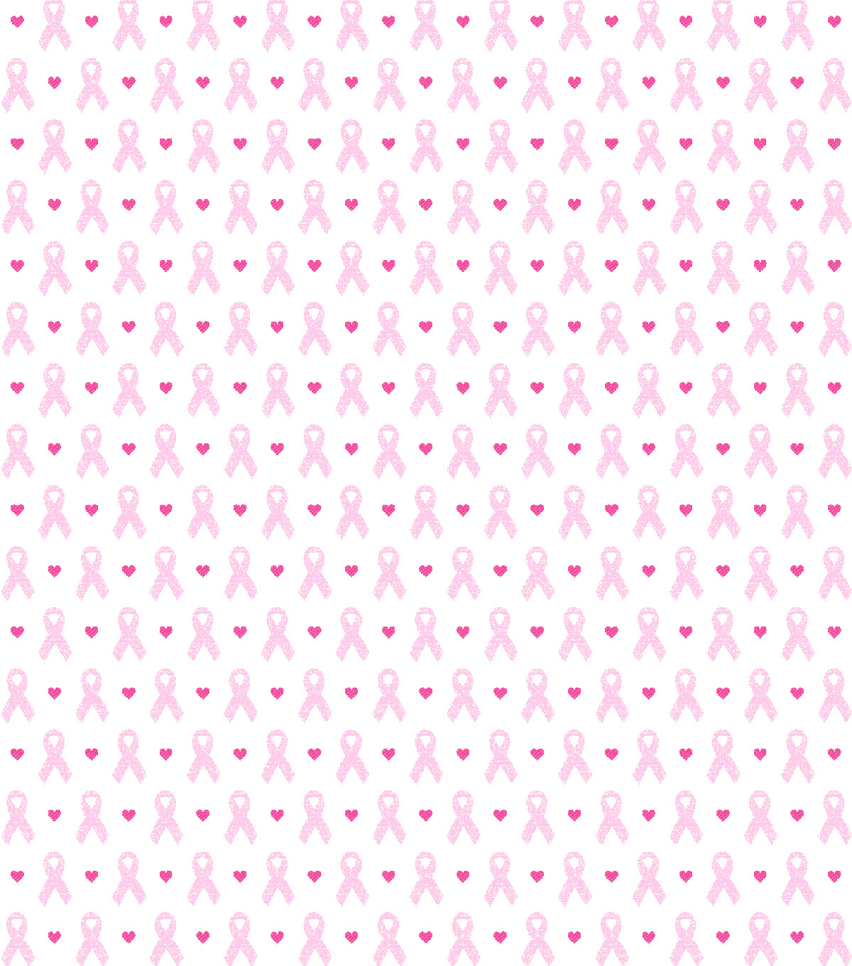 Novelty Cotton Fabric-Breast Cancer Ribbons