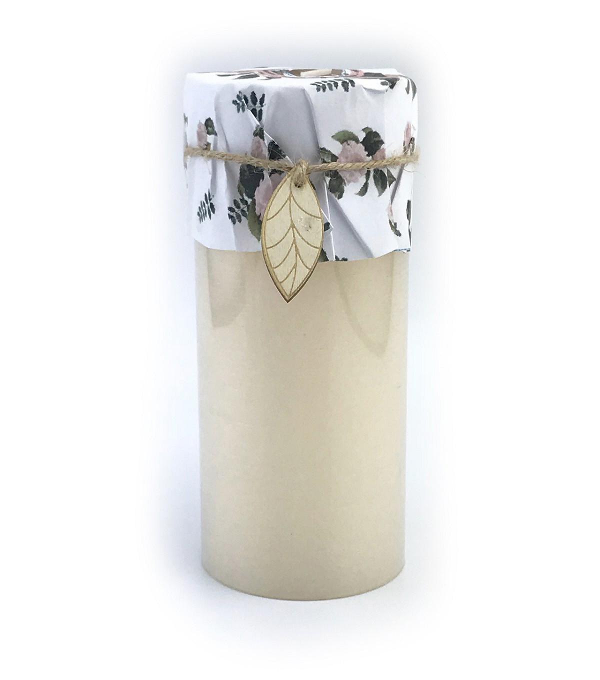 Simply Spring 3\u0027\u0027x6\u0027\u0027 Rustic Pillar Candle-Cream
