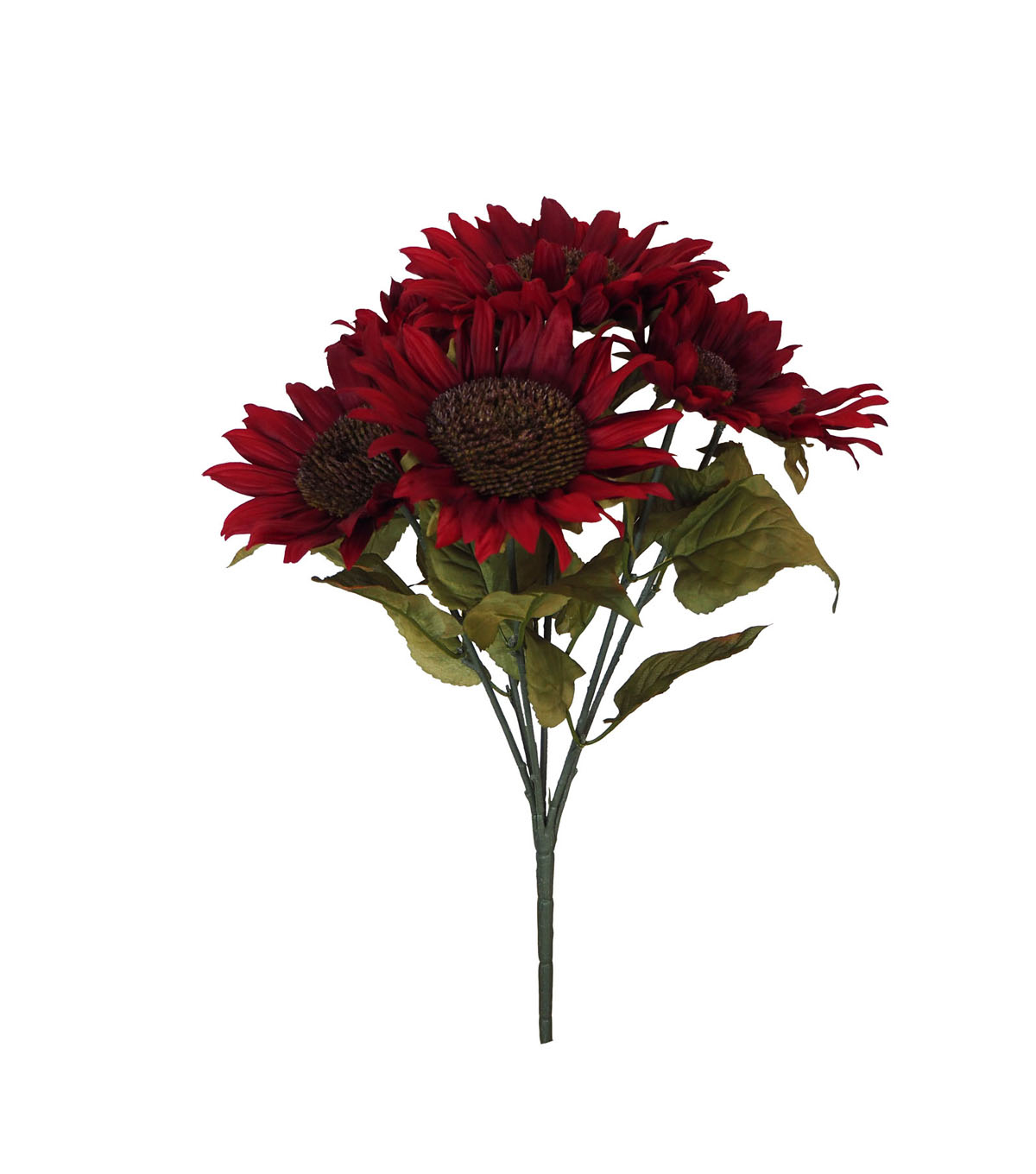 Blooming Autumn Water Resistant Sunflower Bush-Red