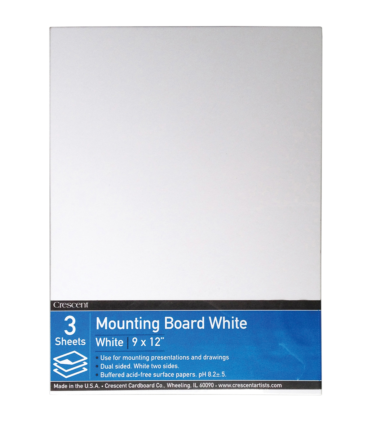 Crescent White Mounting Board Value Pack 9\u0027\u0027x12\u0027\u0027