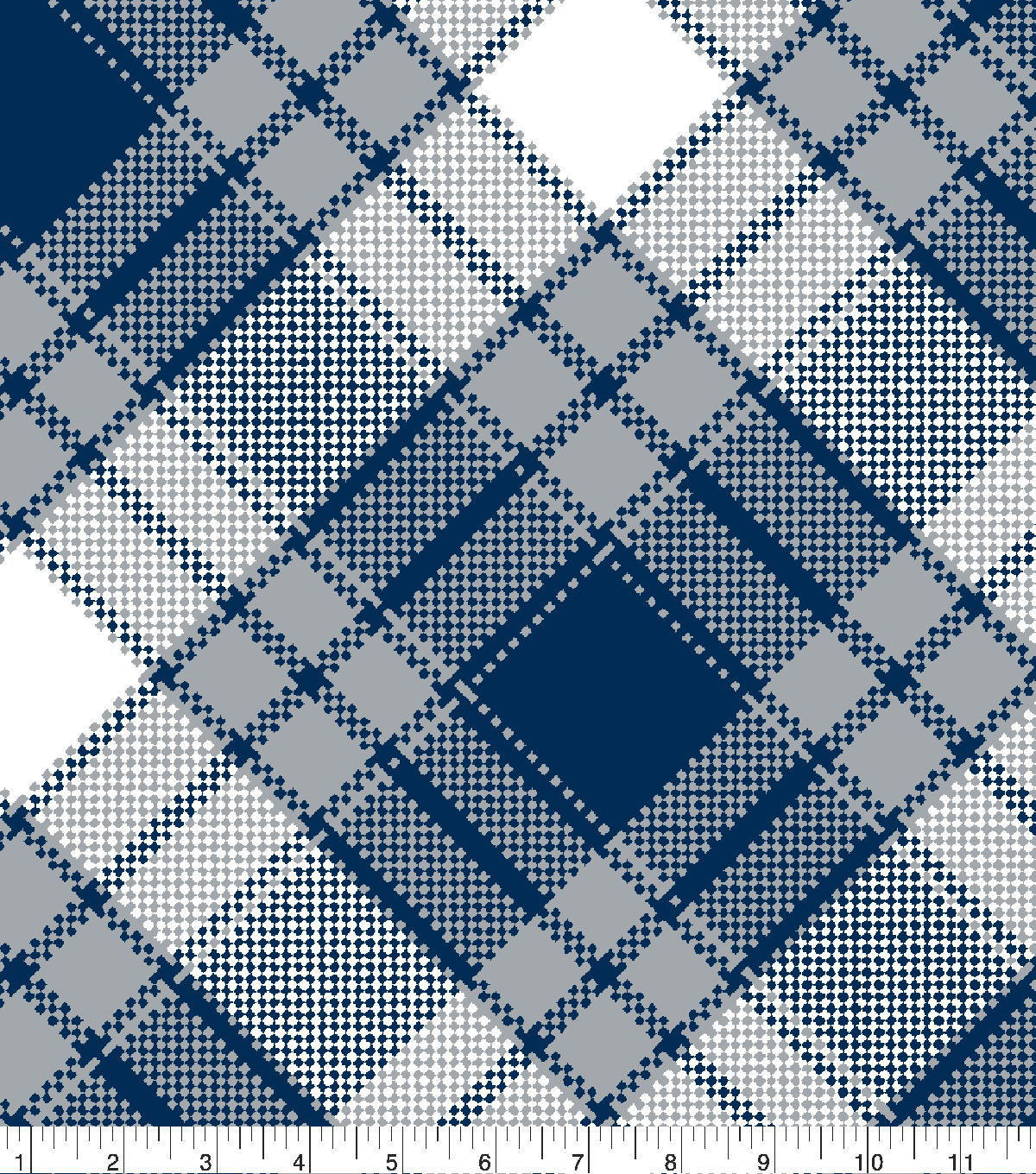 Blizzard Fleece Fabric 59\u0022-Annie Plaid Navy