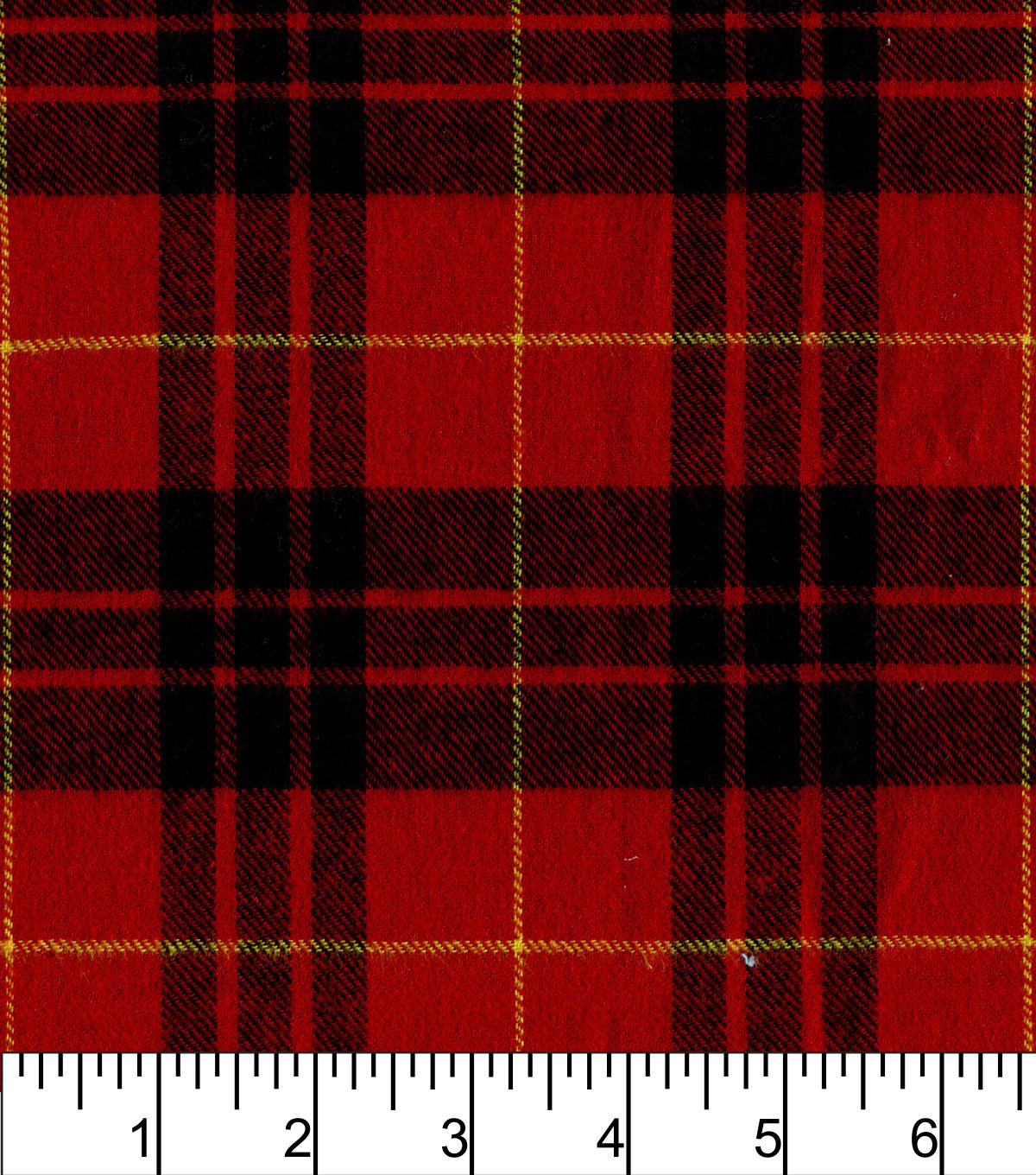 Flannel Shirting Fabric -Red Black Yellow