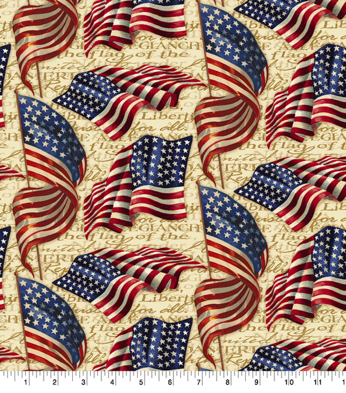 Patriotic Cotton Fabric 43\'\'-We Pledge Allegiance | JOANN