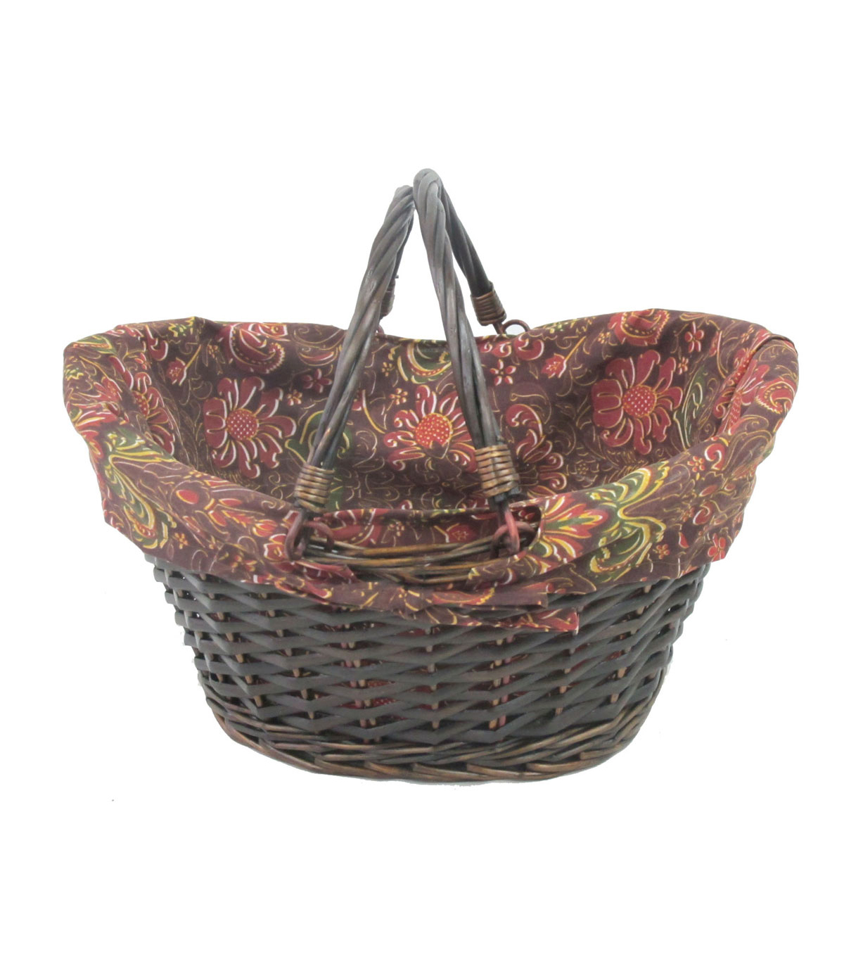 Organizing Essentials Lined Willow Basket with Handles