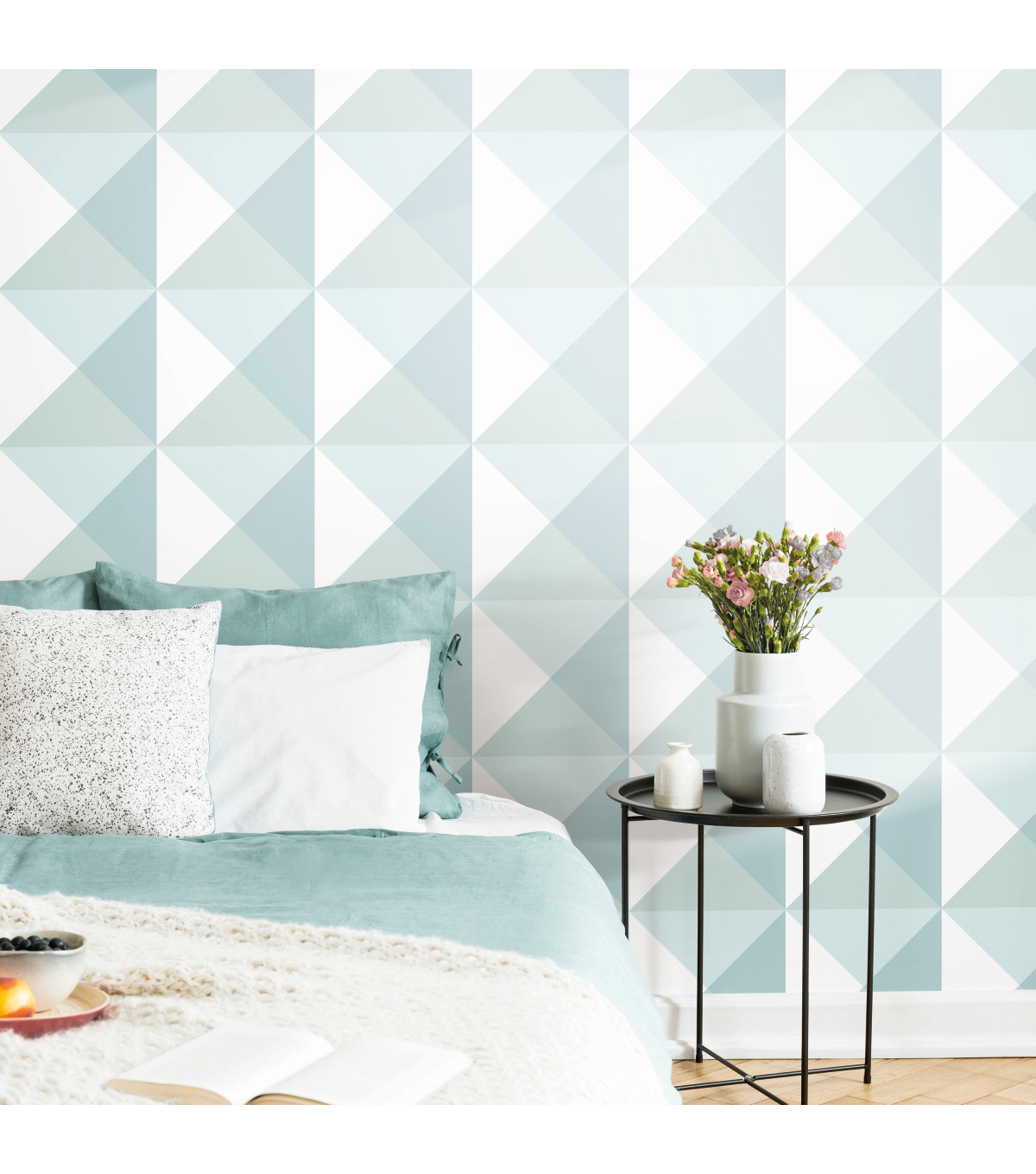 York Wallcoverings Wallpaper-Blue Origami