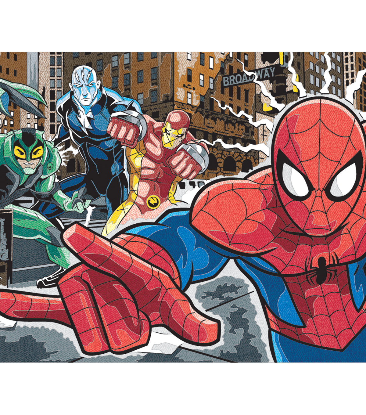 Marvel Pencil By Number Kits-Spiderman And Villains