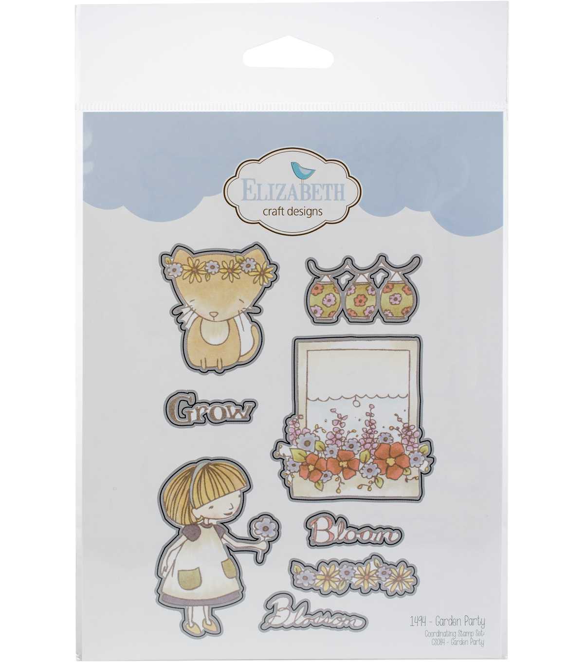 Elizabeth Craft Designs 8 pk Metal Dies-Garden Party