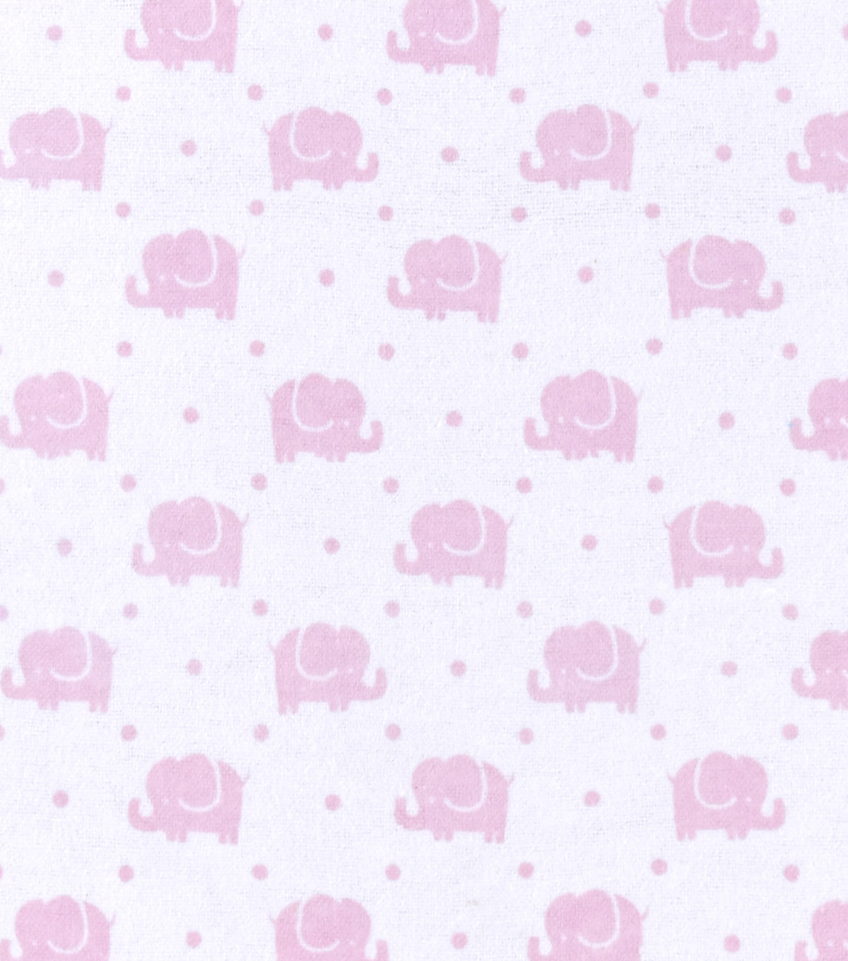 Snuggle Flannel Fabric -Pink Elephants Marching