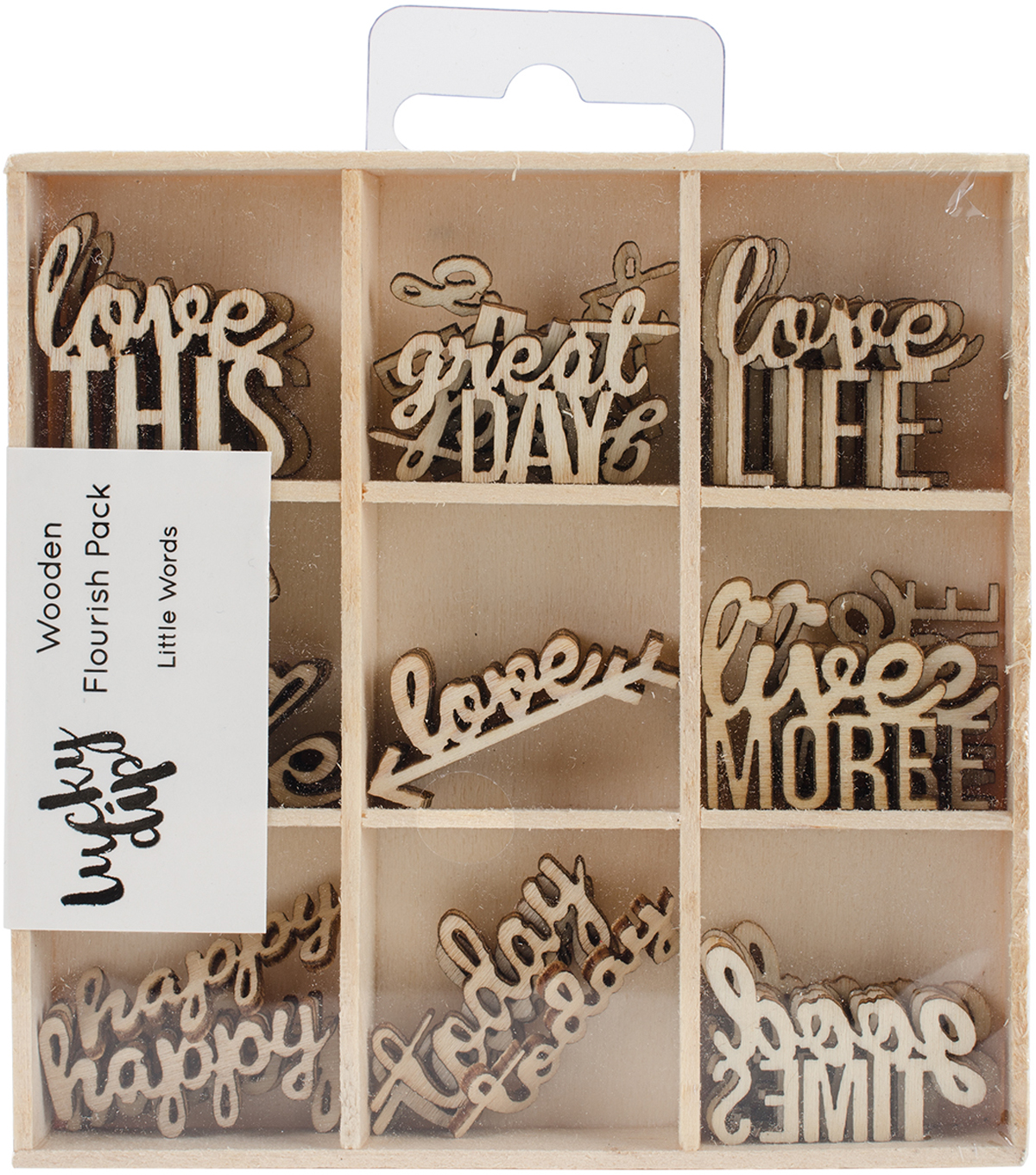 Themed Mini Wooden Flourishes-Little Words