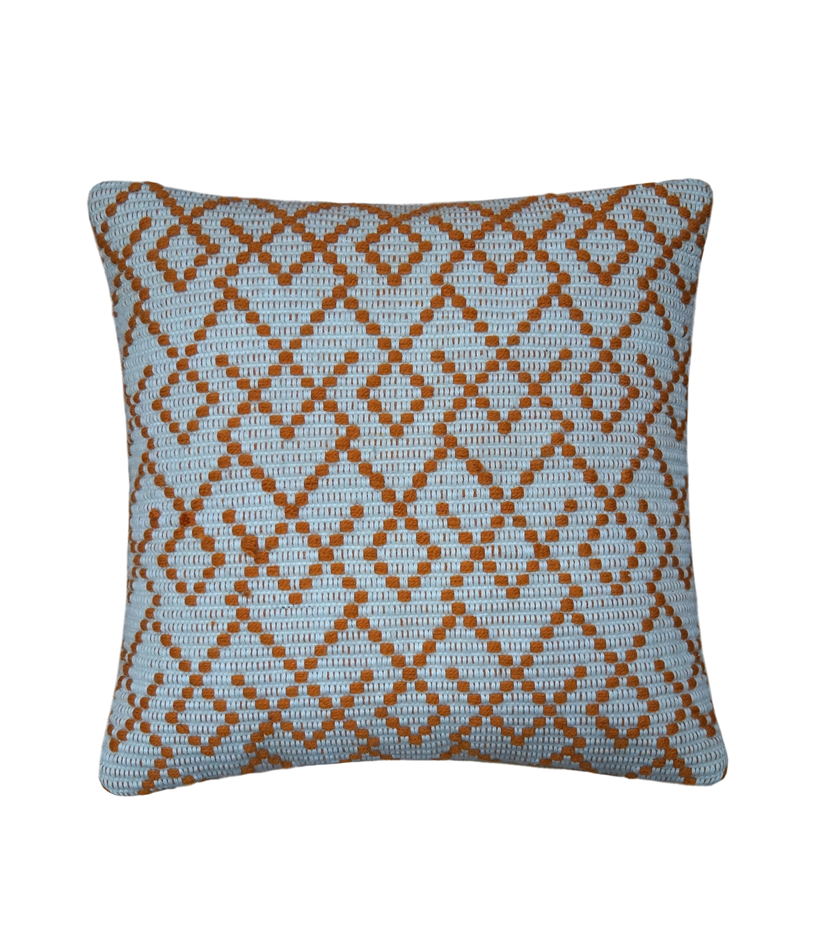 Simply Autumn 18\u0027\u0027x18\u0027\u0027 Textured Pillow-Orange Diamonds